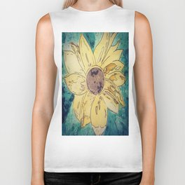 Sunflower madness Biker Tank