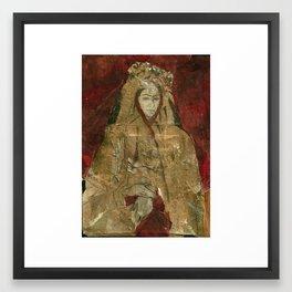 Hommage à Frida Kahlo V Framed Art Print