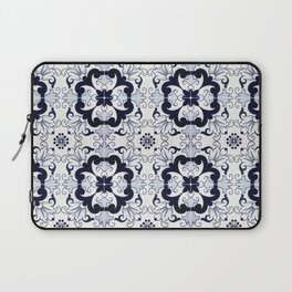 Portuguese Tiles Azulejos Blue and White Pattern Laptop Sleeve