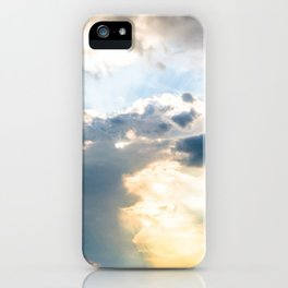 Very cloudy sky after a storm along the coast of the Adriatic sea in spring iPhone Case