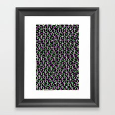 Pink/Green Web Framed Art Print