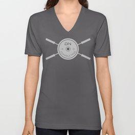 Large DNC Barbell Logo T light Unisex V-Neck