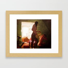 Girls Bath Framed Art Print
