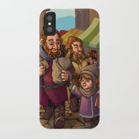 nori iPhone & iPod Cases featuring Brothers Ri Market Day by Hattie Hedgehog