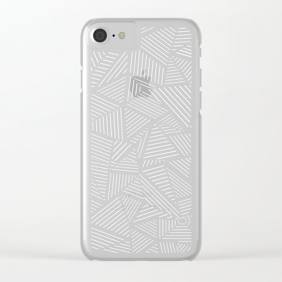 Abstraction Linear Clear iPhone Case