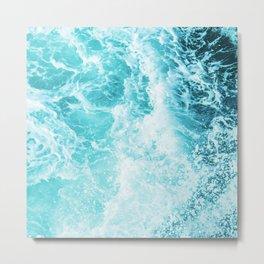 Perfect Sea Waves Metal Print