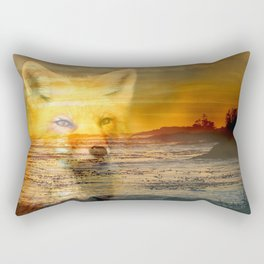 Sunset Fox Rectangular Pillow