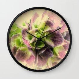 Soft Hydrangea Flower Modern Country Farmhouse Art A422 Wall Clock