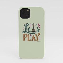 Let's Play (Queen's Gambit) iPhone Case