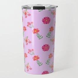 flowers rosas rose pink Travel Mug