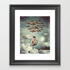 The Rose That Wanted to See the World Framed Art Print