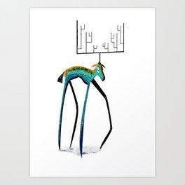 My dear deer Art Print