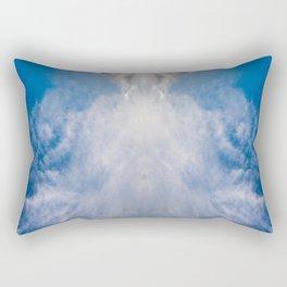 A Cloud Reflection Rectangular Pillow