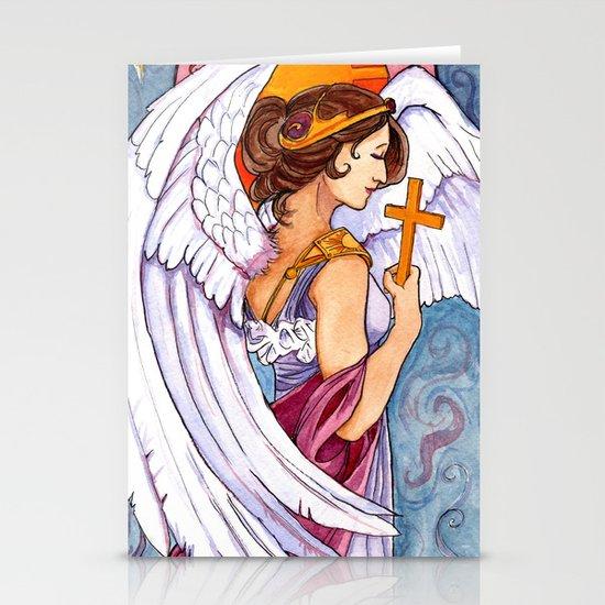 Giovanna - Art Nouveau Angel Stationery Cards