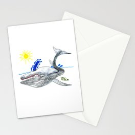 Fin Whale Stationery Cards