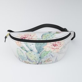 Prettiest Cactus Rose Marble Watercolor by Nature Magick Fanny Pack