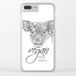Every life is precious - pig Clear iPhone Case