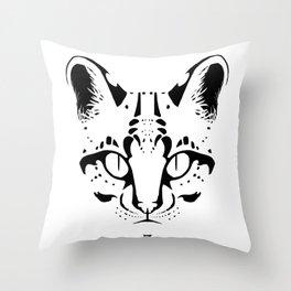 Wild Cat Ocelot Throw Pillow