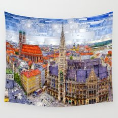 Munich Cityscape Wall Tapestry