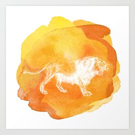 Color Spot Safari Lion Art Print