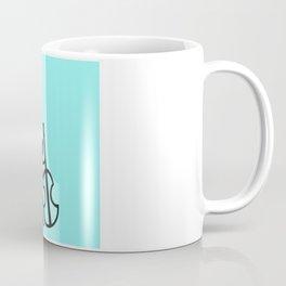 Guitar Figure in Blue Coffee Mug