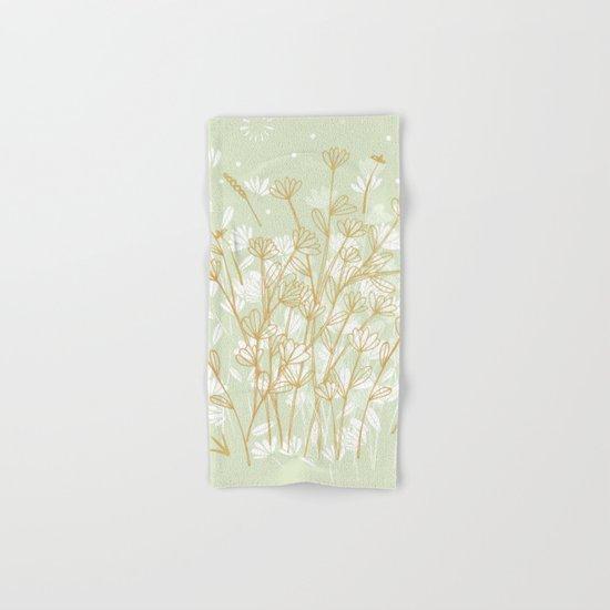 Coockie brown clover on green  Hand & Bath Towel