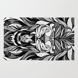 Angry Lion - Drawing Rug