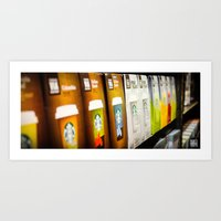 starbucks Art Prints featuring Starbucks by Berty Mandagie