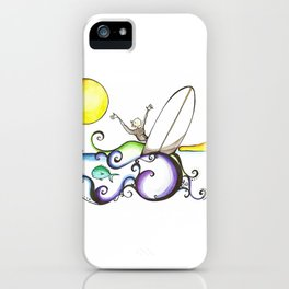 Carlos Clavero, CeCe longboard surfer  iPhone Case