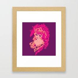 Firy Woman Framed Art Print