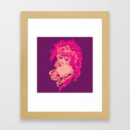 Firy Woman Framed Art Print