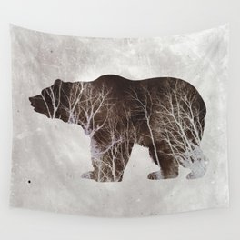 Bear in the Woods Wall Tapestry
