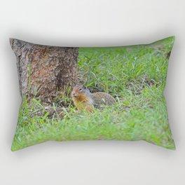 Columbian ground squirrel in Jasper National Park Rectangular Pillow