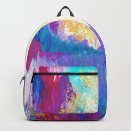 SWEET DREAMS - Lovely Bright Soft Pastel Modern Abstract Fun Nursery Ombre Design Acrylic Painting Backpack