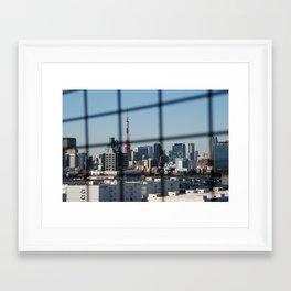 Tokyo Skyline from Odaiba Bridge Framed Art Print