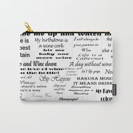 Wine Quotes Carry-All Pouch