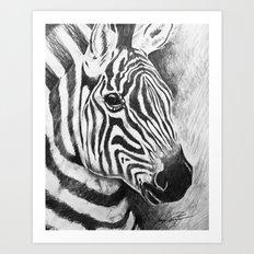 Wild Stripes Art Print