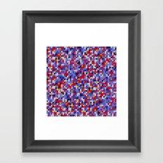 Knitted multicolor pattern 2 Framed Art Print