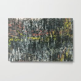 And Then...an Acrylic Abstact Painting Metal Print