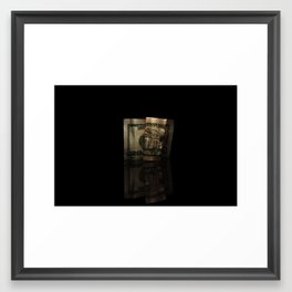 reflected folds Framed Art Print