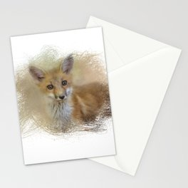 Curious Red Fox Stationery Cards