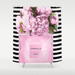Pink peony, perfume art Shower Curtain