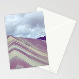 Rainbow mountain, Peru Stationery Cards
