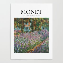 Monet - The Artist's Garden at Giverny Poster