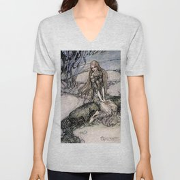 "Arthur Rackham Fairy Art from ""Undine"" Unisex V-Neck"