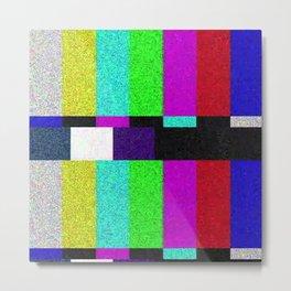 TV SCRN Metal Print