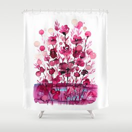 Floral Charm No.1D by Kathy Morton Stanion Shower Curtain
