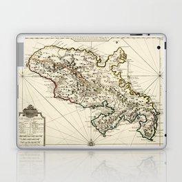 Map Of Martinique 1730 Laptop & iPad Skin