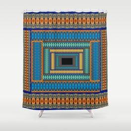 Soul Portal Geometric Print Shower Curtain