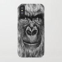 gorilla iPhone & iPod Cases featuring Gorilla  by Кaterina Кalinich